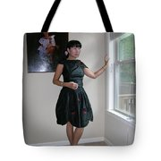 The Model And The Painting Tote Bag