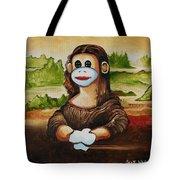 The Monkey Lisa Tote Bag