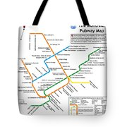 The Montreal Pubway Map Tote Bag