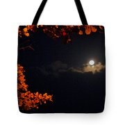The Moon And Red Tote Bag