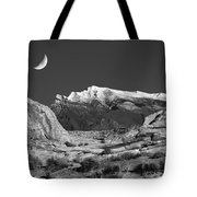 The Moon And The Mountain Range Tote Bag