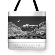 The Moon And The Mountain Range Poster Tote Bag