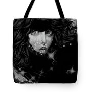 The Moon And The Stars Are In Her Sights. Tote Bag