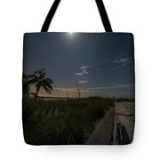 The Moonit Path To Fort Myers Beach Fort Myers Florida Tote Bag