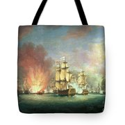 The Moonlight Battle Tote Bag by Richard Paton