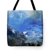 The Mountains Melting Snows Tote Bag