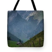 The Mountains Of Switzerland Tote Bag