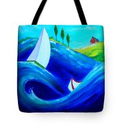 The Moving Ocean Tote Bag