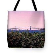The Mt Hope Bridge Bristol Rhode Island Tote Bag