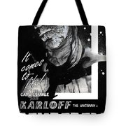 The Mummy 1932 Movie Poster With Tagline Tote Bag