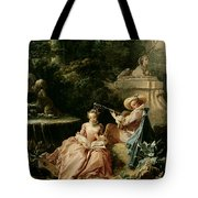 The Music Lesson Tote Bag by Francois Boucher