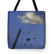 The Musical Barbed Wire Birds Tote Bag