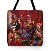 The Musicians Of Hajji Baba Tote Bag by Eikoni Images