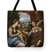 The Mystic Marriage Of Saint Catherine Tote Bag
