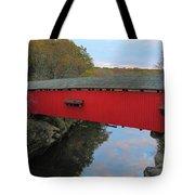 The Narrows Covered Bridge At Dusk Tote Bag