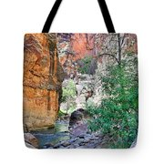 The Narrows Of The Virgin River  Tote Bag