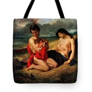 The Natchez Tote Bag by Ferdinand Victor Eugene Delacroix