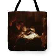 The Nativity Tote Bag by Pierre Louis Cretey or Cretet