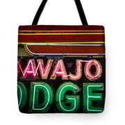 The Navajo Lodge Sign In Prescott Arizona Tote Bag