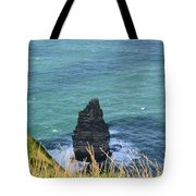 The Needle Off The Cliff's Of Moher In Ireland Tote Bag