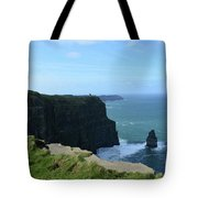 The Needle Rock Formation On The Cliff's Of Moher Tote Bag