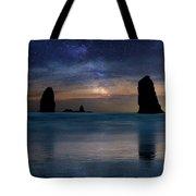 The Needles Rocks Under Starry Night Sky Tote Bag