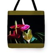 The Neon Garden Tote Bag