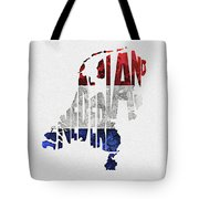 The Netherlands Typographic Map Flag Tote Bag