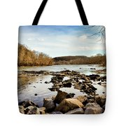 The New River At Whitt Riverbend Park - Giles County Virginia Tote Bag