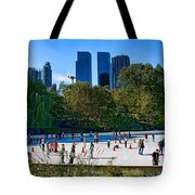 The New York Central Park Ice Rink  Tote Bag