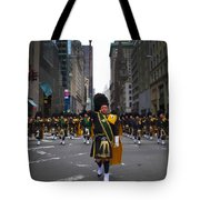 The New York City Police Emerald Society Pipe And Drum Corps Tote Bag