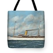 The New York Yacht Club Steam Yacht Vanadis At Sea Tote Bag