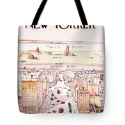 The New Yorker - Magazine Cover - Vintage Art Nouveau Poster Tote Bag