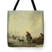 The Newa At Saint Petersburg In Winter Tote Bag