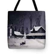 The Night Before Christmas Silvertoned Tote Bag