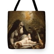The Night-hag Visiting Lapland Witches Tote Bag