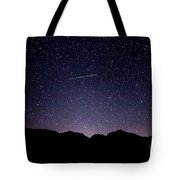 The Night Landscape View And The Stars At Tuttle Creek, Lone Pin Tote Bag