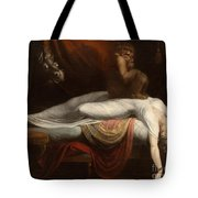 The Nightmare Tote Bag by Henry Fuseli