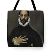 The Nobleman With His Hand On His Chest Tote Bag