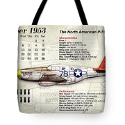 The North American P-51 Mustang V1 Tote Bag