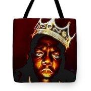 The Notorious B.i.g. - Biggie Smalls Tote Bag by Paul Ward
