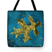 The Oak Leaf And The Wind Storm Tote Bag
