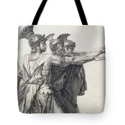 The Oath Of The Horatii, Detail Of The Horatii  Tote Bag