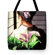 Green Obi At Sansui Restaurant Tote Bag