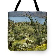 The Ocotillo View Tote Bag