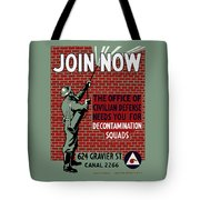 The Office Of Civilian Defense Needs You - Wpa Tote Bag