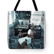 The Old American Barbershop Tote Bag