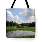 The Old Boat On The Mississippi River Tote Bag