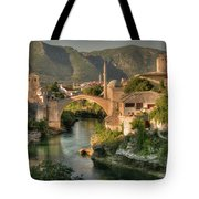 The Old Bridge Of Mostar  Tote Bag