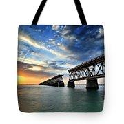 The Old Bridge Sunset - V2 Tote Bag